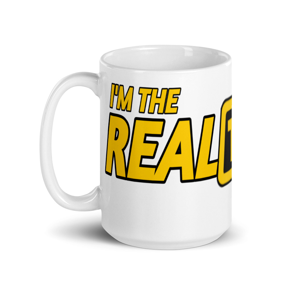 """I'M THE REAL TAXI DRIVER"" Premium Glossy White Mug"