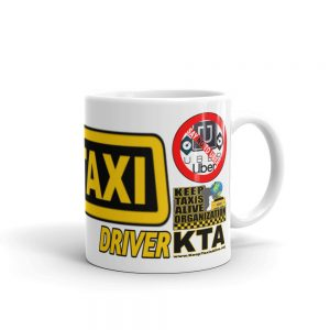 """I'M THE REAL TAXI DRIVER"" Premium Glossy White Mug"