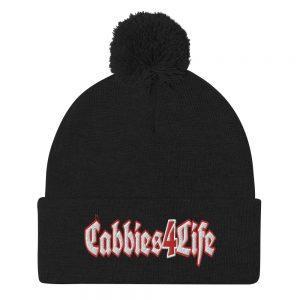 """CABBIES4LIFE"" Embroidered Pom-Pom Beanie"