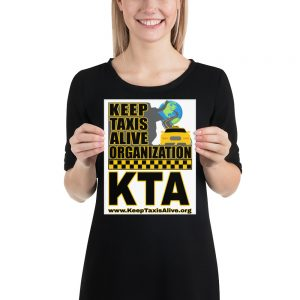 """KEEP TAXIS ALIVE ORGANIZATION"" Premium Matte Paper Poster"