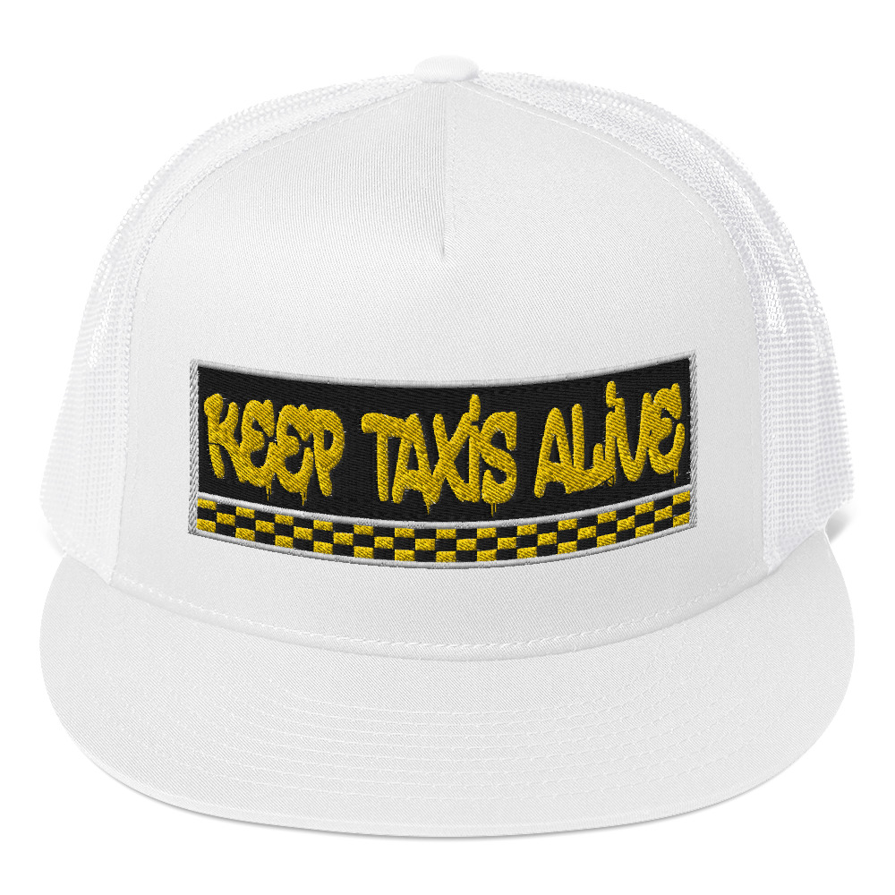 """""""KEEP TAXIS ALIVE – v3"""" Embroidered Yupoong Trucker Cap"""