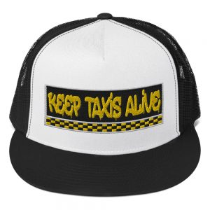 """KEEP TAXIS ALIVE – v3"" Yupoong 5 Panel Trucker Cap"