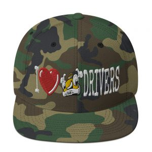 """""""I LOVE TAXI DRIVERS"""" Classic Yupoong Snapback Hat"""