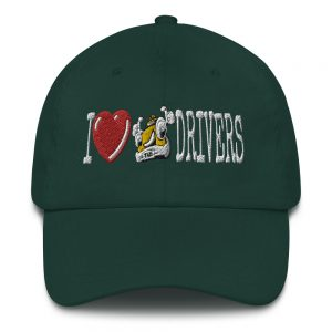 """I LOVE TAXI DRIVERS"" Embroidered Yupoong Dad Hat"