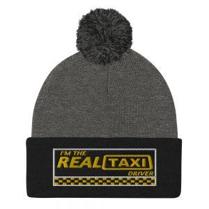 """""""I'M THE REAL TAXI DRIVER – v1"""" Sportsman Pom-Pom Beanie"""