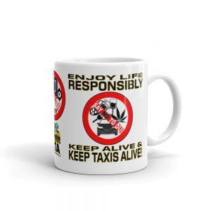 """""""ENJOY LIFE RESPONSIBLY"""" Premium Glossy White Mug"""