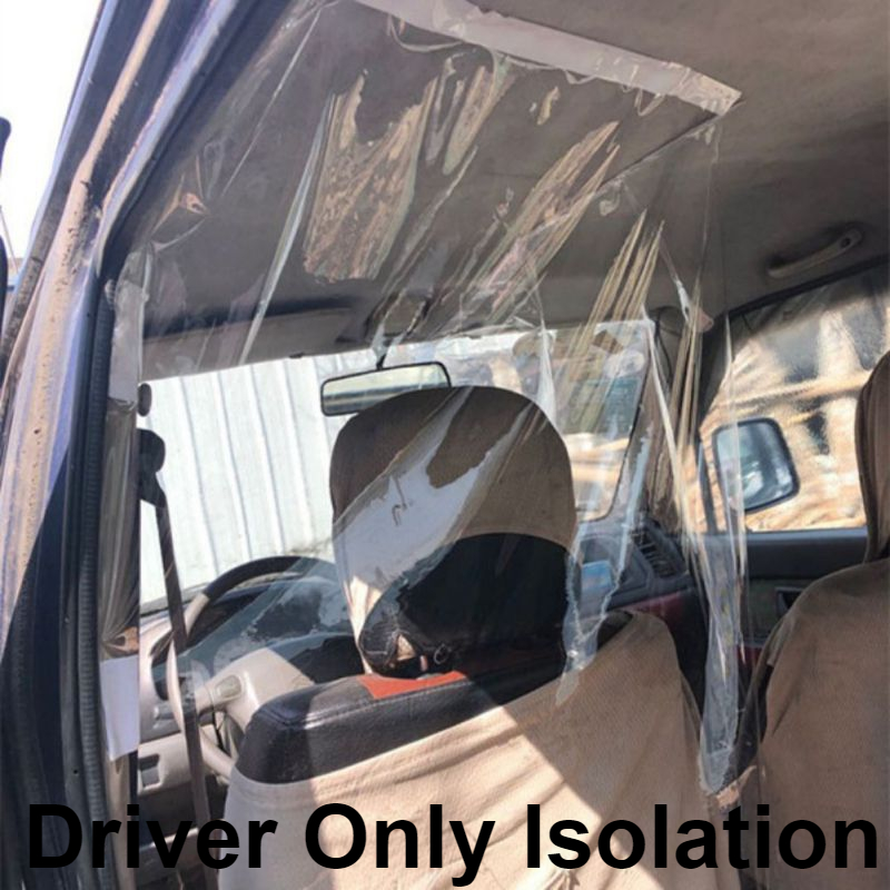 Taxi Driver Anti-Droplet Protective Isolation Clear Film Shield
