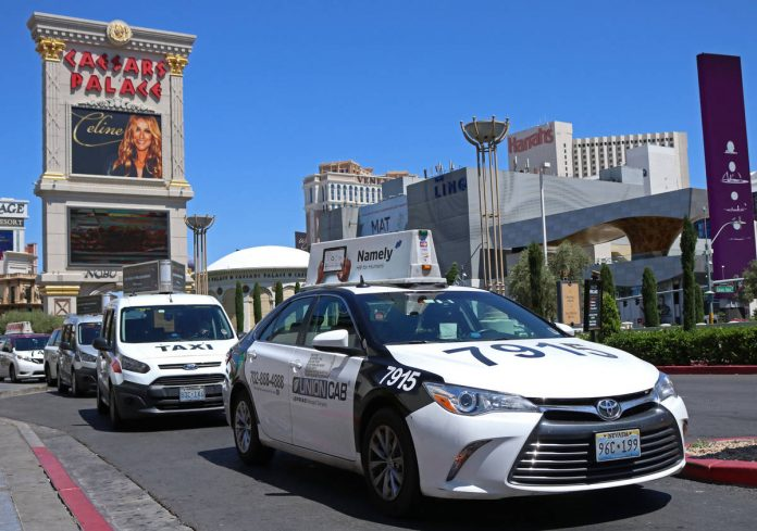 The taxi business in Las Vegas is down by 97 percent since February
