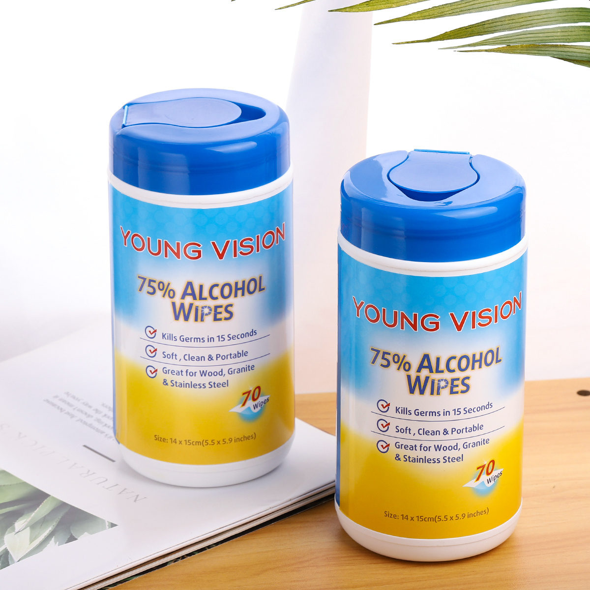 YOUNG VISION Hand Sanitizer & Alcohol Wipes (2 in 1 Pack)