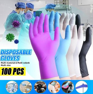 Medical-Grade Multi-Color Nitrile Rubber Gloves (100PCS)