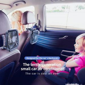 USB Powered Car Headrest Cooling Fan with Strong Wind Force & Speed Control