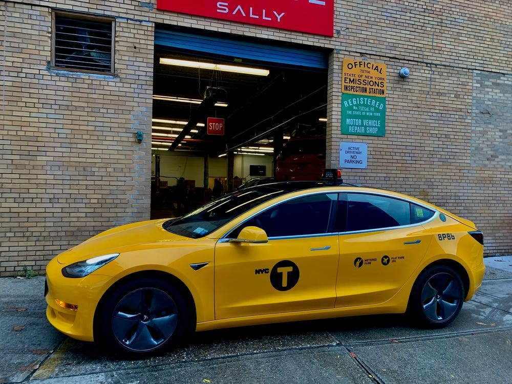 Kta Vlogs The First Tesla Taxi In Nyc Just Hit The Streets As The City's Only