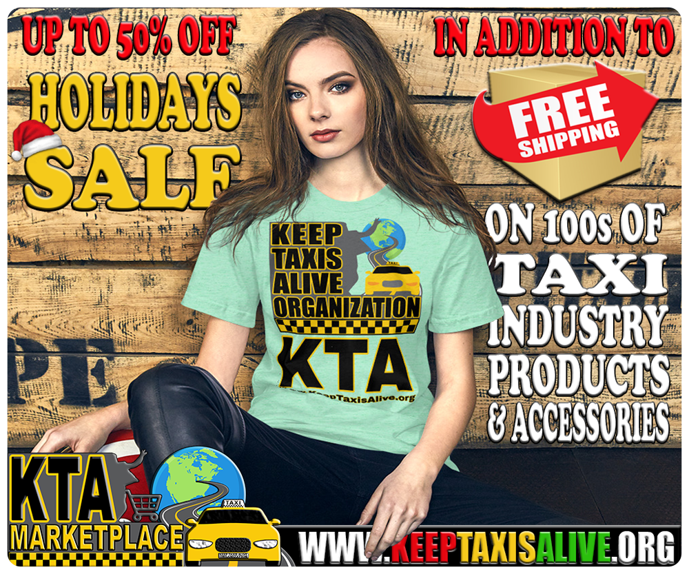 Keep Taxis Alive Marketplace Holidays Sale